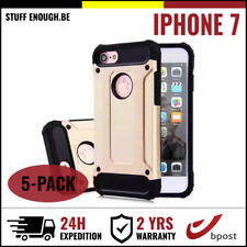 5IN1 Gold Armor Cover Cas Coque Etui Silicone Hoesje Case Or For iPhone 7
