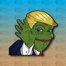 "PEPE Trump MEME Frog KEK Rare 5"" JDM Anime Funny Custom Vinyl Decal Sticker"
