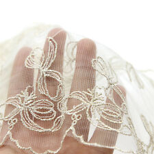 """1 Yard Beige Vintage Style Delicate Net Wide Lace Trim 7 1/2"""" Wide Embroidered"""