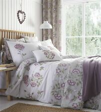 Embroidered Floral Duvet Cover Bedding Bed Set Modern Soft Reversible