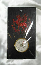 "Welsh Red Dragon Wall Hanging Thermometer WELSH SLATE 7 x 4"" Gift Souvenir"