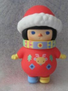 """Pop Mart Pucky Winter Babies SERIES adorable XMAS BABY red outfit 3"""" NEW W/ BOX"""