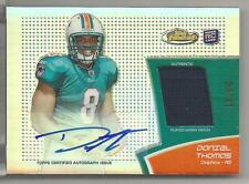 2011 Topps Finest Football Daniel Thomas Auto Patch Rookie Card # 10/99