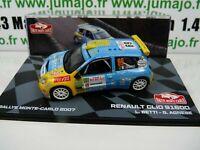 RMIT9H 1/43 IXO Rallye Monte Carlo : RENAULT CLIO S1600 L.Betti / G.Agnese 2007