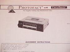 1973 KRACO AM RADIO SERVICE MANUAL KR-1100 CHEVROLET FORD CHRYSLER DODGE BUICK