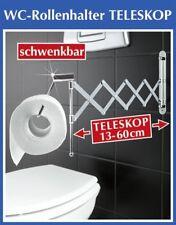 WENKO Teleskop Toilettenpapierhalter Papierollenhalter Papierhalter Rollenhalter