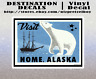 "Nome Alaska Decal Sticker 4"" x 2.8"" Bering Sea Gold Mining"