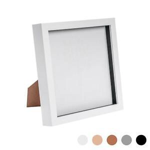 Box Picture Frame Deep 3D Photo Display 8x8 Inch Square Standing Hanging White