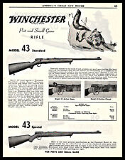 1954 Winchester 43 Standard and Special Rifle Ad