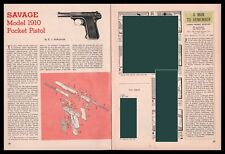 1959 Savage Model 1910 Pocket Pistol Exploded View~Parts List~Assembly Article