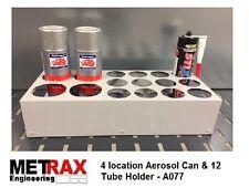 4 Aerosol Can & 12 Tube Storage holder Van/Shed/Garage Racking