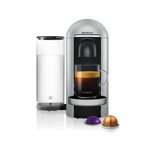Nespresso Vertuo Plus Deluxe Silver Round Top Coffee Machine