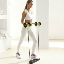 Gym Pull Rope Trianing Equipment, Family Fitness Core Double Wheel Ab Roller