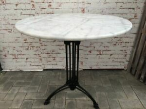 Bistrotisch Outdoor Gastro mit Marmor und Gusseisen Tisch Ø80cm NEU
