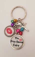 The Drag Queen Fairy Colours Lips Print Magic Cute Keyring or Bag Charm Gift