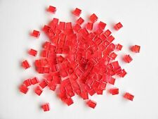 Miyuki Square Transparent Rainbow Red Seed Beads (cubes) 3.5-3.7mm(20g)