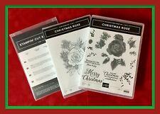 Stampin' Up! CHRISTMAS ROSE 2 Case Stamp Set & ROSES Dies