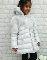 NEW AUTHENTIC ELSY RRP £279 AGE 3 YEARS GREY FUR DOWN JACKET COAT JK08