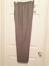 Alfred Dunner Gray Dress Pants W/Design Made in USA Size 16 #024408056891 (NWT)