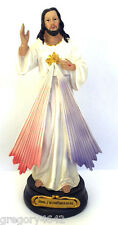STATUE CHRIST MISERICORDIEUX  20 CM  DE HAUT MATIERE RESINE  AVEC PRIERE
