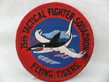 15th Tactical Fighter Squadron Flying Tigers Pilot Patch USAF Air Force Shark