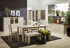 STEENS Massivholz Speisezimmer Esszimmer MONACO Landhausstil White-Wash Stone