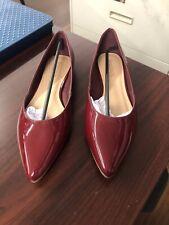 Long Tall Sally Burgundy Kendra Ballerina Shoes Size 11 NEW