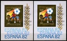 TCHAD 1982 Football Coupe Monde Espagne Gold Foil Or Michel Bloc 88 A+B 54 euros