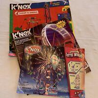 K'NEX replacements parts Lot 3 instruction booklets Ferris Coaster drop-n-swing