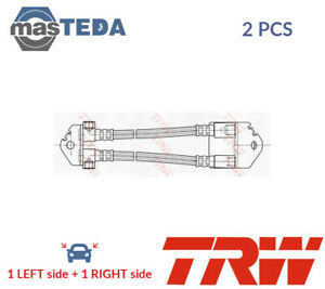 2x TRW REAR BRAKE HOSE LINE PIPE PHA496 I NEW OE REPLACEMENT