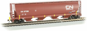 Bachmann-Canadian Cylindrical 4-Bay Grain Hopper with FRED - Ready to Run -- Can