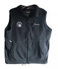 Simms WindStopper Vest Fleece Full Zip Men's Med Black Fishing Wind Stopper Zip