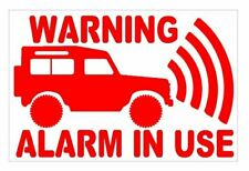 """Land Rover Decal """"WARNING Alarm in Use"""" pack of 3"""