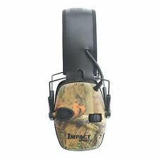 Camo 22NRR Safety Shooting Ear Muffs Electronic Hearing Protection MP3 AUX Jack