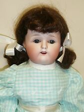 "23"" Antique Japanese Nippon Bisque Doll w/Blue Sleep Eyes"