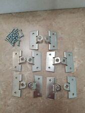 5 Sets -Flanger Picture Frame Hangers - Heavy Duty Wood Picture Framing Hardware