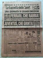 GAZZETTA DELLO SPORT 4-5-1981 FORMULA 1 GP ITALIA JUVENTUS-AVELLINO ROMA NAPOLI
