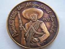 Rare 1978 Original Illinois PANCHO VILLA Antique Bronze HR Mardi Gras Doubloon