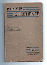 """Revue """"Russie et Chrétienté"""" - N°4 - Septembre 1935 -  Rosanov  - Staline"""