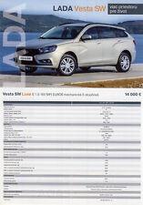 2018 MY Lada Vesta SW 02 / 2018 catalogue brochure Slovakia Slovaquie