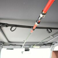 2x Car Fishing Rod Rack Carrier Reel Combos Pole Holder Horizontal Mount Belt