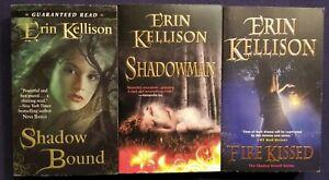 3 ERIN KELLISON Fiery PARANORMAL ROMANCE Books SHADOW KISSED Series BOUND +