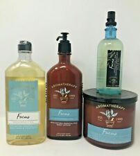 New ListingFocus Bath & Body Works Lot 3 Wick Candle Pillow Mist Lotion Wash Eucalyptus Tea