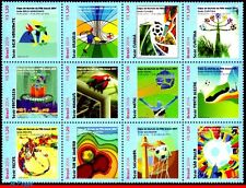 14-01 BRAZIL 2014 WORLD CUP CHAMPIONSHIP,HOST GAMES,FIFA,SOCCER/FOOTBALL,SET MNH