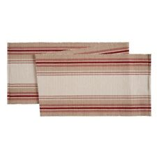 """C&F FRENCH STRIPES RED Cotton Table Runner 13"""" x 72"""""""