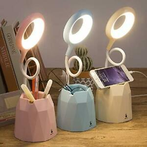 LED Eye Protection Small Table lamp Pen Holder Touch Bedside lamp Bedroom