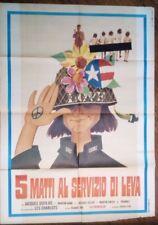FILM -5 MATTI AL SERVIZIO DI LEVA,ANNO 1971-MANIFESTO(100 X 140)N.192