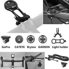 Bike Stem Extension Mount Holder Bracket Adapt For GARMIN GPS GoPro Cateye light
