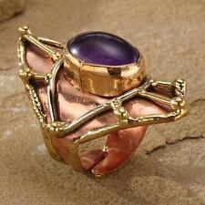 New Tara Mesa 8.78ctw Amethyst Web Knuckle Ring ~ Size 8 Adjustable
