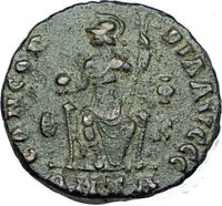 GRATIAN Original 378AD Antioch Authentic Ancient Roman Coin Rome as Roma i65885